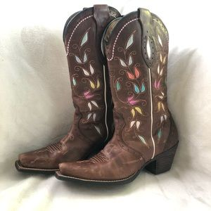 Ariat Sonora Square Toe Embroidered Western Boots